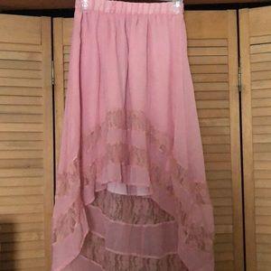 Dresses & Skirts - High low pink skirt
